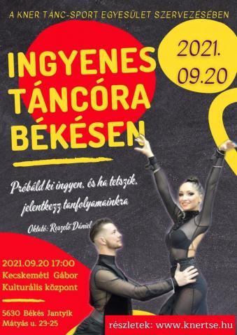 Ingyenes nyílt táncóra Békésen 2021.09.20.